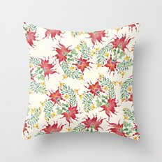 Dragon Flower Watercolor Throw Pillow