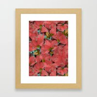 Translucent Floral Framed Art Print
