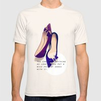 A Nice Pair Of Shoes Mens Fitted Tee Natural SMALL
