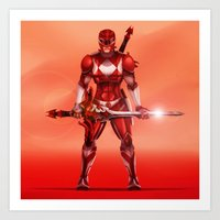 Red Ranger Art Print