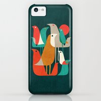 iPhone 5c Cases featuring Flock of Birds by Budi Kwan