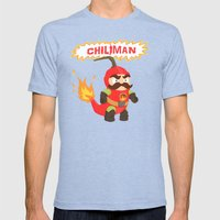 Chiliman Mens Fitted Tee Tri-Blue SMALL