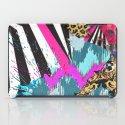 Fashion | Chic aztec pink teal zebra stripes leopard pattern iPad Case