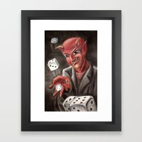 DevilsDice Framed Art Print