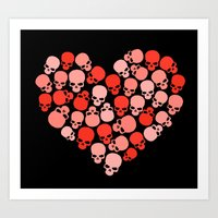 SKULL HEART FOR VALENTIN… Art Print