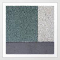 Green Stucko Art Print