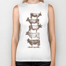 Cow Cow Nuts Biker Tank