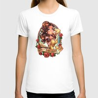 Till The Last Petal Falls Womens Fitted Tee White SMALL