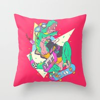 Ju-RAD-ssic Park Throw Pillow
