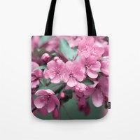 Pink Cherry Blossoms Tote Bag