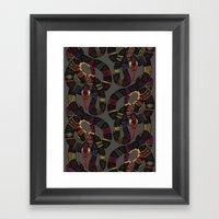 Geo Snakes Lead Framed Art Print