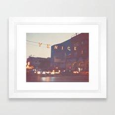 Venice Beach California Framed Art Print