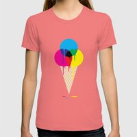 CMYKream Womens Fitted Tee Pomegranate SMALL