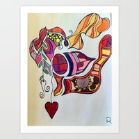 The Spirit of the Color Red Art Print