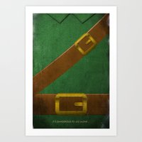 Video Game Poster: Adven… Art Print