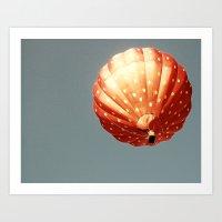Strawberry Hot Air Baloo… Art Print