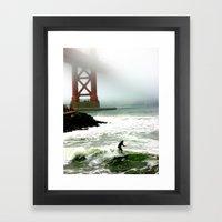 Surfing SF Bay Framed Art Print