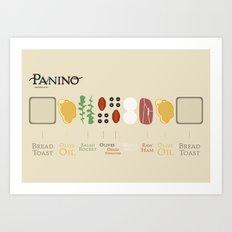 Panino recipe  Art Print