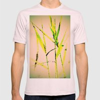 Water Reed Digital Art 3… Mens Fitted Tee Light Pink SMALL