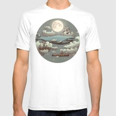 Ocean Meets Sky Mens Fitted Tee White SMALL