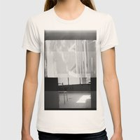 distortion Womens Fitted Tee Natural SMALL