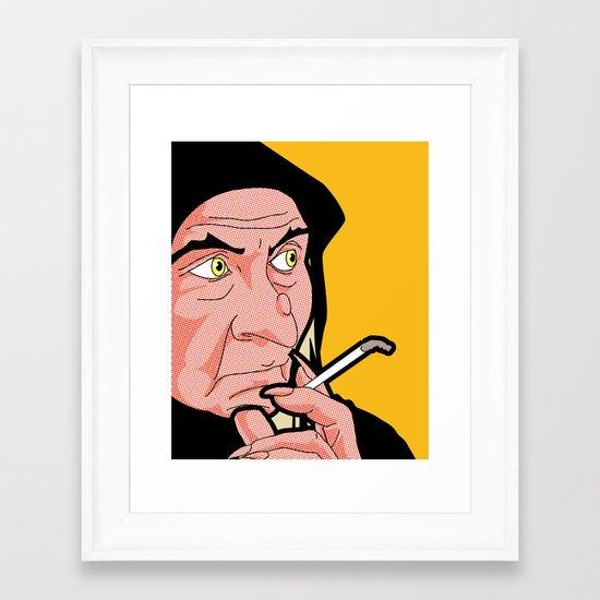 The secret life of heroes - QueenWitchSmoke Framed Art Print