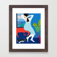 Lady At The Window Framed Art Print