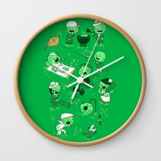 Lawn of the dead Wall Clock