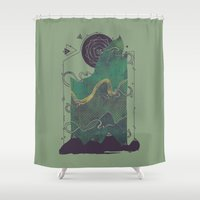 Northern Nightsky Shower Curtain