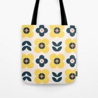 Vintage Geometric Flower… Tote Bag