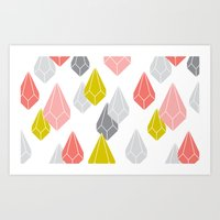 Raining Gems - Enchanted Art Print