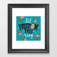 Let Freedom Fries Ring Framed Art Print