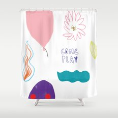 come and play Shower Curtain