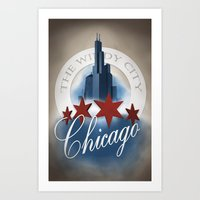 The Windy City Art Print
