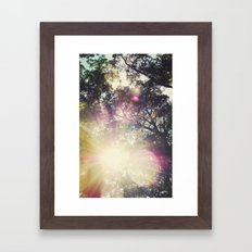 Sun/Sunflare Framed Art Print