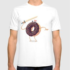 Baked to Rule Mens Fitted Tee White SMALL