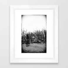 Morning Yoga @ Zanpa Jam I Framed Art Print