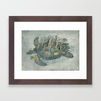 Coral Camouflage  Framed Art Print