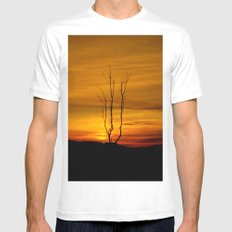 Lone tree sunset Mens Fitted Tee White SMALL