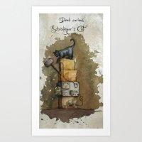 Schrödinger`s Cat Art Print