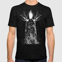 The Slenderman Mens Fitted Tee Tri-Black SMALL