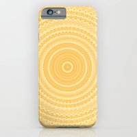 iPhone & iPod Case featuring Kaleidoscope Yellow Pattern by Sunshine Inspired Designs