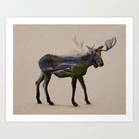 The Alaskan Bull Moose Art Print