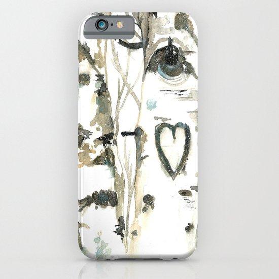 Winter Romance Birch Forest  iPhone & iPod Case