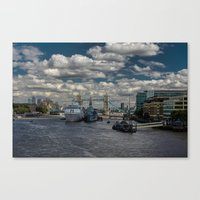 London's The Thames Canvas Print