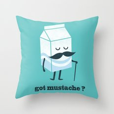 Got mustache? Throw Pillow