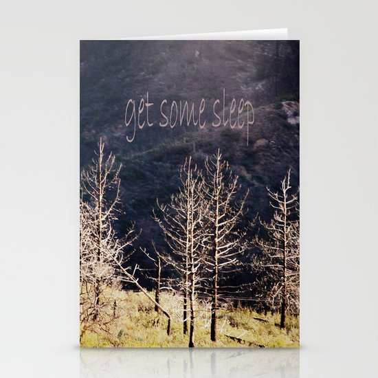 get some sleep Stationery Card