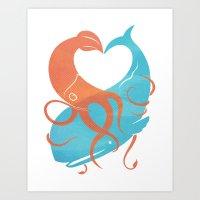 Hug It Out Art Print