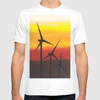 Two Windmills Mens Fitted Tee White SMALL