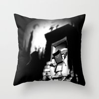 Attack of the Mutant Pizza Throw Pillow
